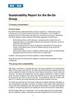 Sustainability Report for the Be-Ge Group 2021